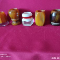 Antigüedades: MANGOS DE BROCHAS AFEITAR. Lote 235843180