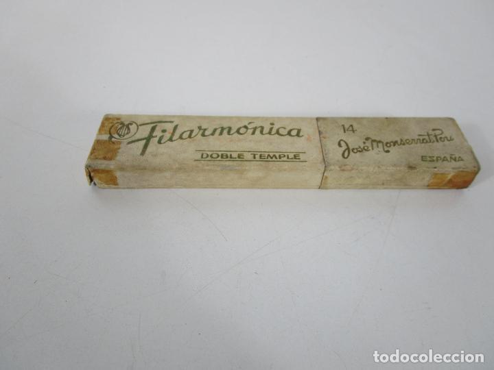 Antigüedades: Navaja de Afeitar Filarmónica 14, Doble Temple - José Montserrat Pou - Foto 9 - 235918475