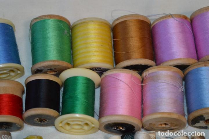 Antigüedades: Antiguas / Vintage - Lote BOBINAS de HILO variadas / Para coser, bordar, ojalar y otras ¡Mira fotos! - Foto 4 - 235933315