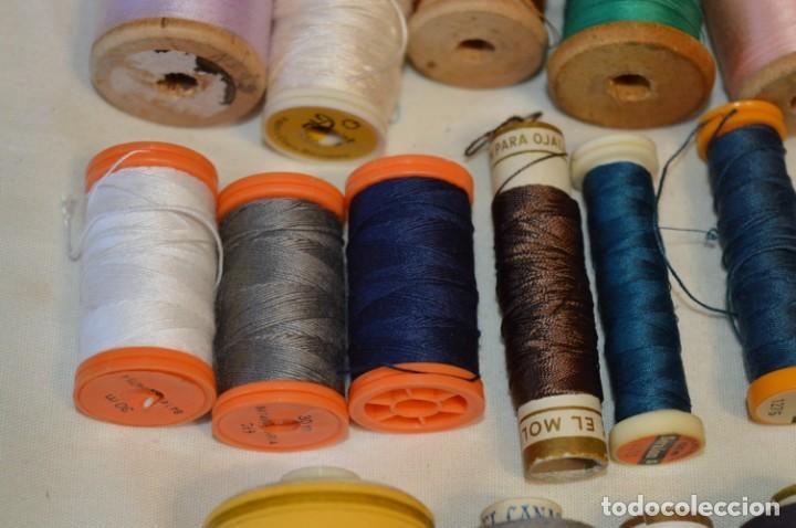 Antigüedades: Antiguas / Vintage - Lote BOBINAS de HILO variadas / Para coser, bordar, ojalar y otras ¡Mira fotos! - Foto 6 - 235933315