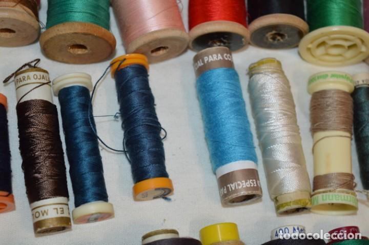 Antigüedades: Antiguas / Vintage - Lote BOBINAS de HILO variadas / Para coser, bordar, ojalar y otras ¡Mira fotos! - Foto 7 - 235933315