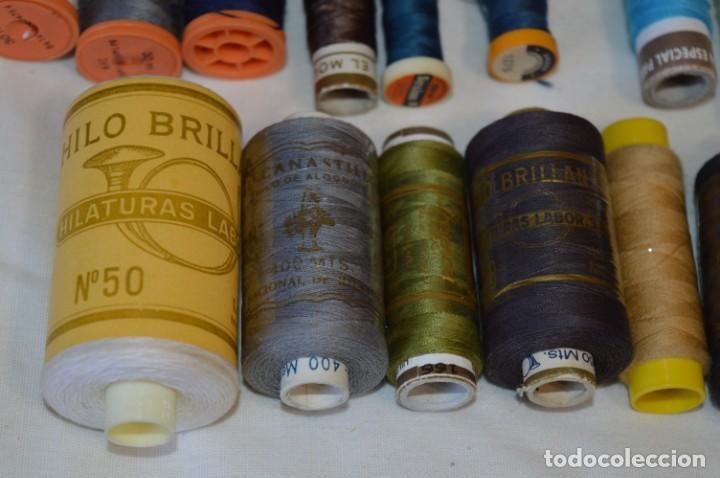 Antigüedades: Antiguas / Vintage - Lote BOBINAS de HILO variadas / Para coser, bordar, ojalar y otras ¡Mira fotos! - Foto 9 - 235933315