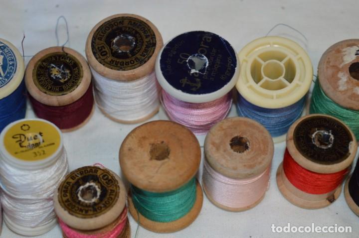 Antigüedades: Antiguas / Vintage - Lote BOBINAS de HILO variadas / Para coser, bordar, ojalar y otras ¡Mira fotos! - Foto 14 - 235933315