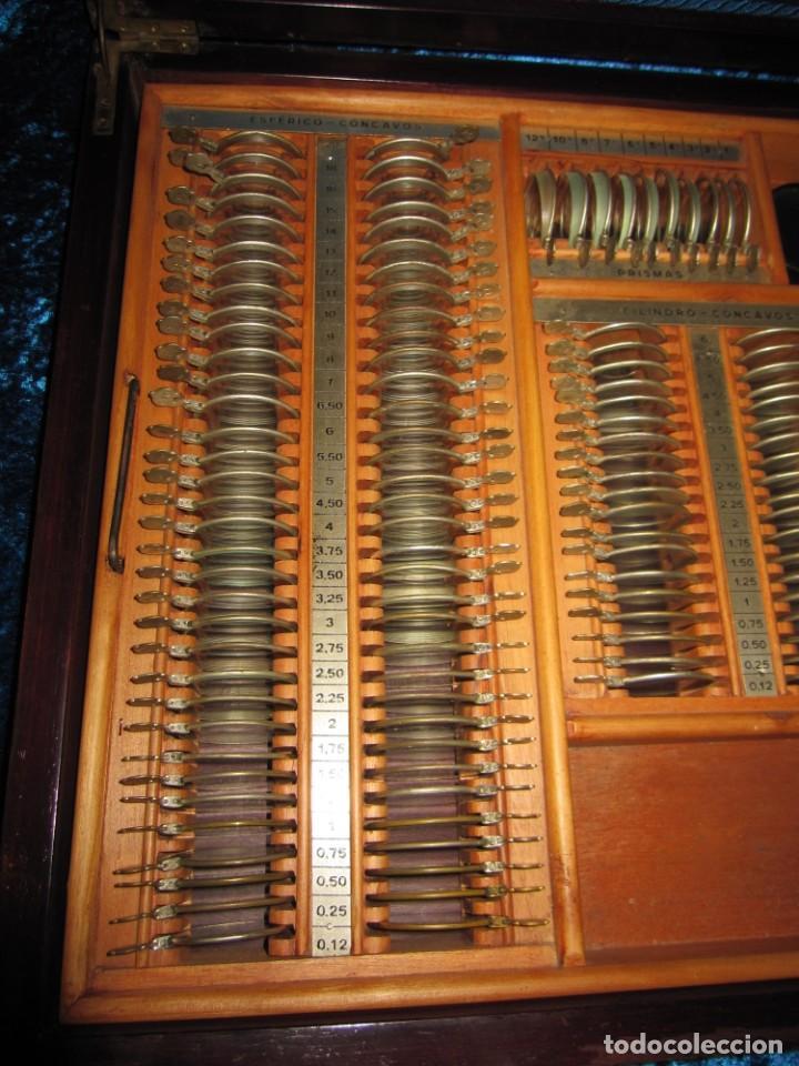 Antigüedades: Maletín 231 lentes optometría optometrista óptica circa 1900 Clausolles Madrid + publicidad 1901 - Foto 12 - 235999790