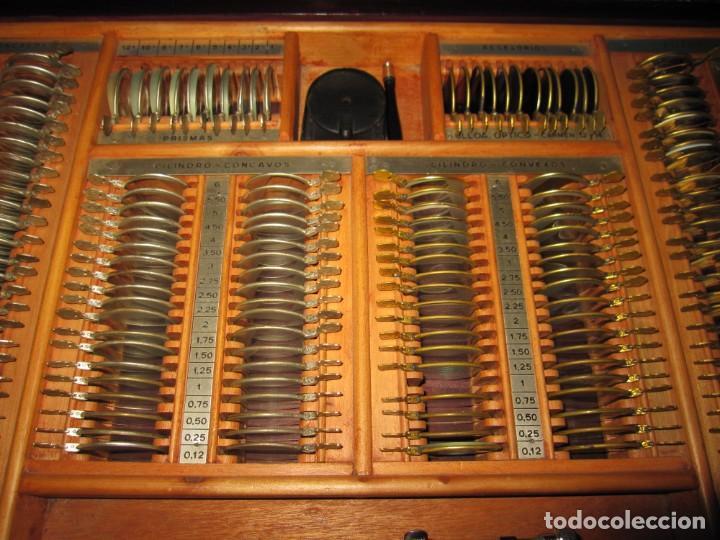Antigüedades: Maletín 231 lentes optometría optometrista óptica circa 1900 Clausolles Madrid + publicidad 1901 - Foto 13 - 235999790