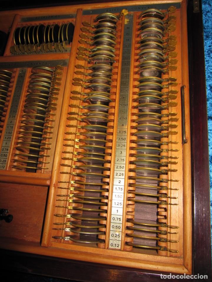 Antigüedades: Maletín 231 lentes optometría optometrista óptica circa 1900 Clausolles Madrid + publicidad 1901 - Foto 14 - 235999790
