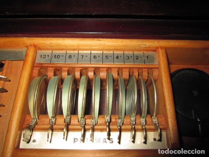Antigüedades: Maletín 231 lentes optometría optometrista óptica circa 1900 Clausolles Madrid + publicidad 1901 - Foto 19 - 235999790