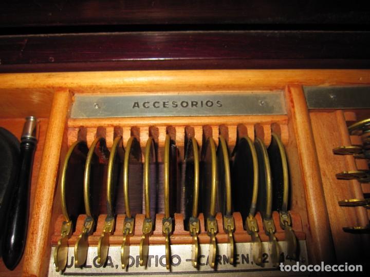 Antigüedades: Maletín 231 lentes optometría optometrista óptica circa 1900 Clausolles Madrid + publicidad 1901 - Foto 20 - 235999790