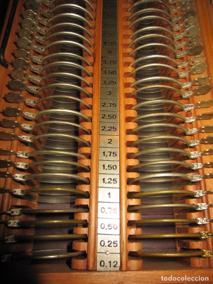 Antigüedades: Maletín 231 lentes optometría optometrista óptica circa 1900 Clausolles Madrid + publicidad 1901 - Foto 24 - 235999790