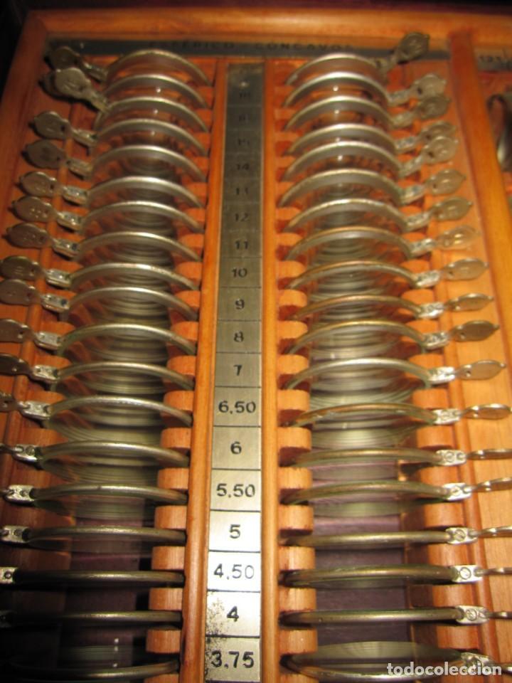 Antigüedades: Maletín 231 lentes optometría optometrista óptica circa 1900 Clausolles Madrid + publicidad 1901 - Foto 25 - 235999790