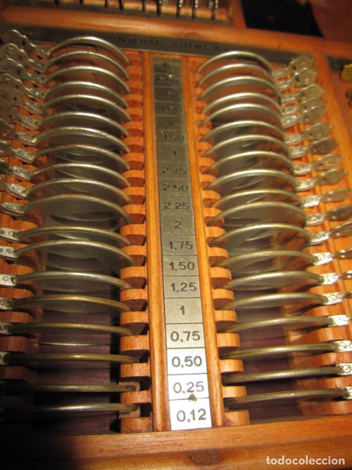 Antigüedades: Maletín 231 lentes optometría optometrista óptica circa 1900 Clausolles Madrid + publicidad 1901 - Foto 27 - 235999790