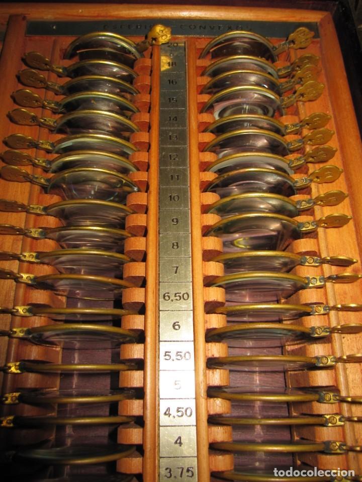 Antigüedades: Maletín 231 lentes optometría optometrista óptica circa 1900 Clausolles Madrid + publicidad 1901 - Foto 28 - 235999790