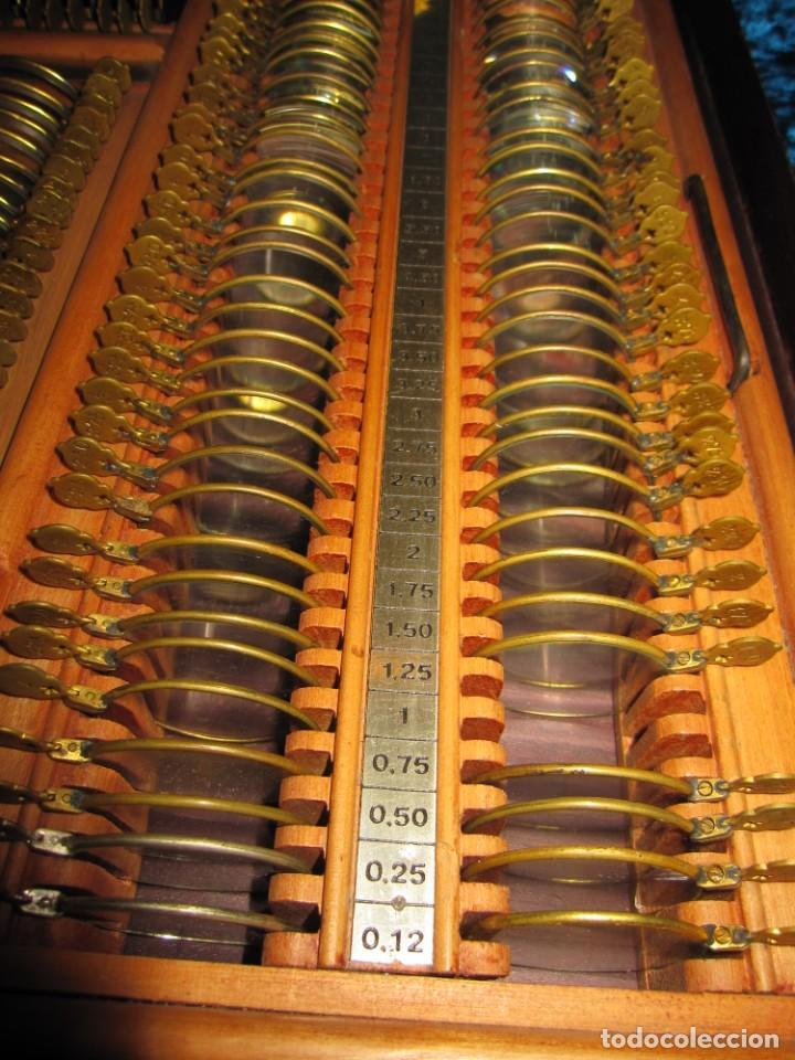 Antigüedades: Maletín 231 lentes optometría optometrista óptica circa 1900 Clausolles Madrid + publicidad 1901 - Foto 29 - 235999790