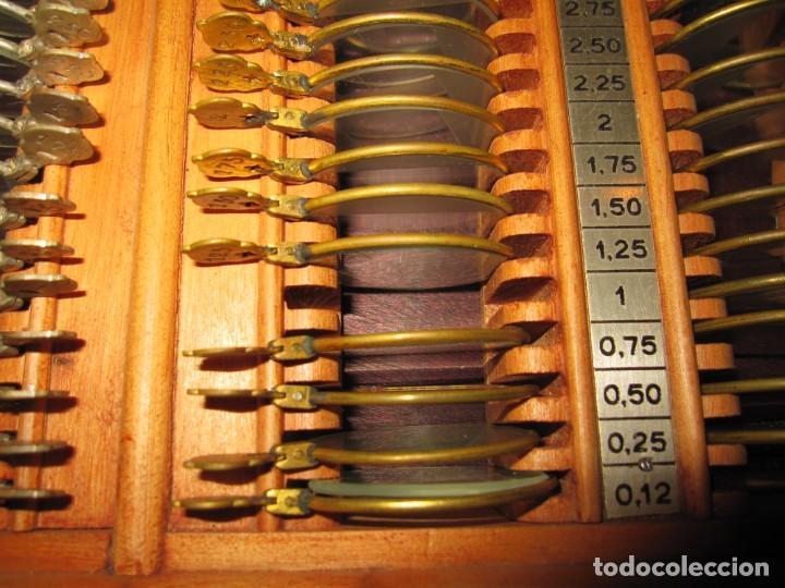 Antigüedades: Maletín 231 lentes optometría optometrista óptica circa 1900 Clausolles Madrid + publicidad 1901 - Foto 32 - 235999790
