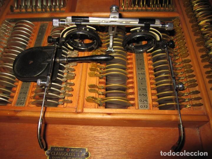Antigüedades: Maletín 231 lentes optometría optometrista óptica circa 1900 Clausolles Madrid + publicidad 1901 - Foto 45 - 235999790