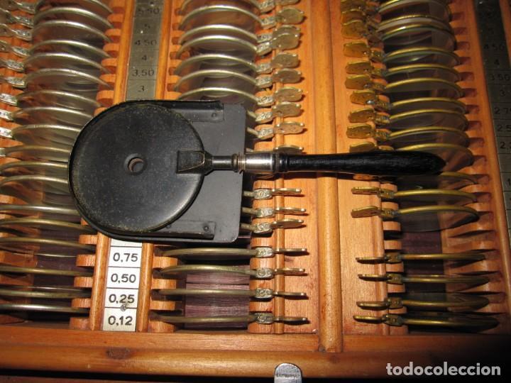 Antigüedades: Maletín 231 lentes optometría optometrista óptica circa 1900 Clausolles Madrid + publicidad 1901 - Foto 48 - 235999790