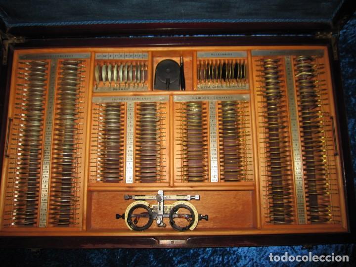 Antigüedades: Maletín 231 lentes optometría optometrista óptica circa 1900 Clausolles Madrid + publicidad 1901 - Foto 49 - 235999790