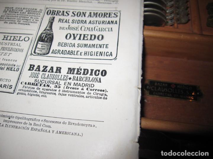 Antigüedades: Maletín 231 lentes optometría optometrista óptica circa 1900 Clausolles Madrid + publicidad 1901 - Foto 53 - 235999790