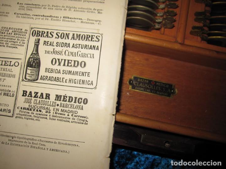 Antigüedades: Maletín 231 lentes optometría optometrista óptica circa 1900 Clausolles Madrid + publicidad 1901 - Foto 56 - 235999790