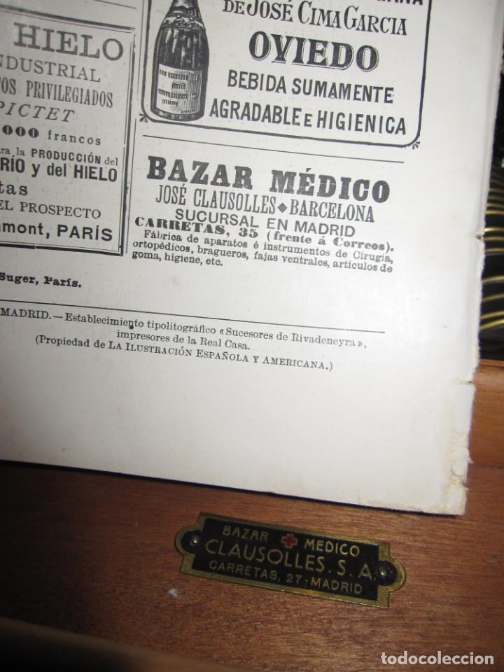 Antigüedades: Maletín 231 lentes optometría optometrista óptica circa 1900 Clausolles Madrid + publicidad 1901 - Foto 57 - 235999790
