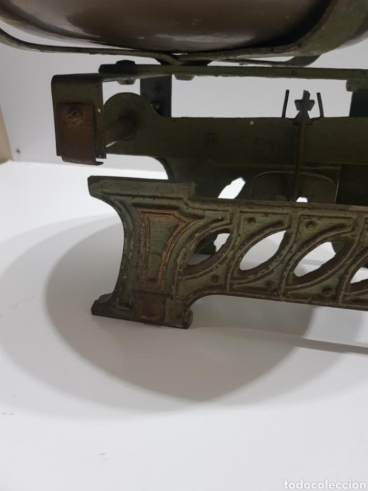 Antigüedades: ANTIGUA BALANZA DE ULTRAMARINOS CON PESAS - Foto 9 - 236097620