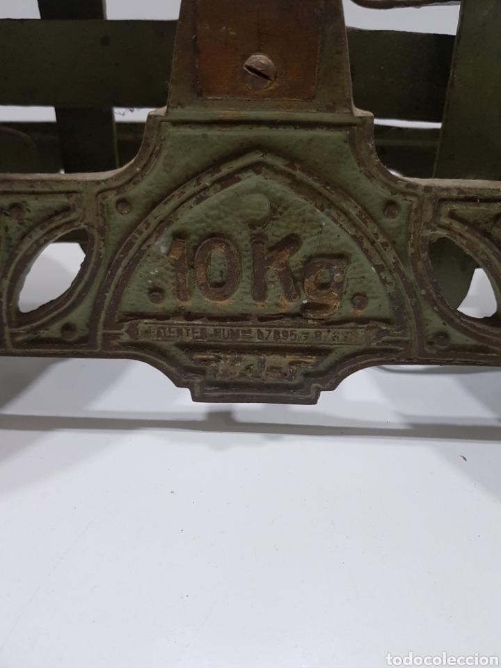 Antigüedades: ANTIGUA BALANZA DE ULTRAMARINOS CON PESAS - Foto 10 - 236097620