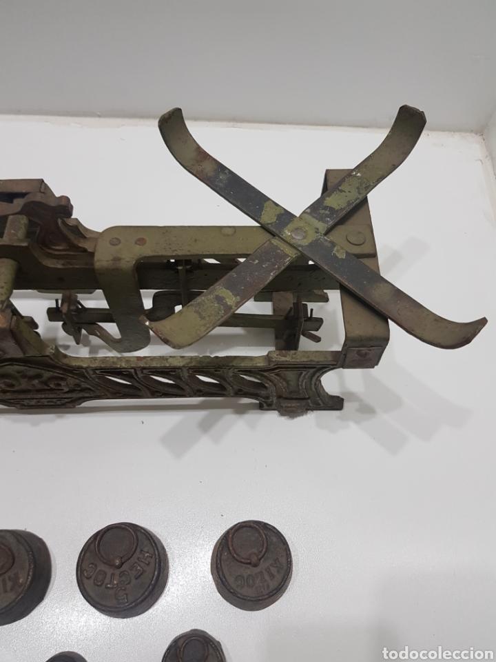 Antigüedades: ANTIGUA BALANZA DE ULTRAMARINOS CON PESAS - Foto 24 - 236097620