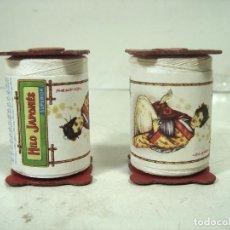 Antigüedades: 2X BOBINA HILO JAPONES SUPERIOR -NUEVAS-COLOR BLANCO -VDA. DE HIJO DE I. MIR ROVIRA -ROLLO COSER -. Lote 236098145