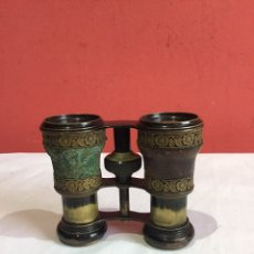 Antigüedades: PRECIOSOS BINOCULARES, ANTEOJOS, PRISMÁTICOS. BRONCE .AÑOS 50 . VER FOTOS. Lote 236145405