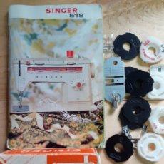 Antigüedades: LOTE DE REPUESTOS DE LA SINGER 518 , AÑO 1974. Lote 236178365