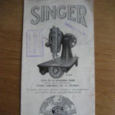 Antigüedades: SINGER. 15K88. TRIPTICO PUBLICITARIO. 30 X 22 CMS.. Lote 236302865