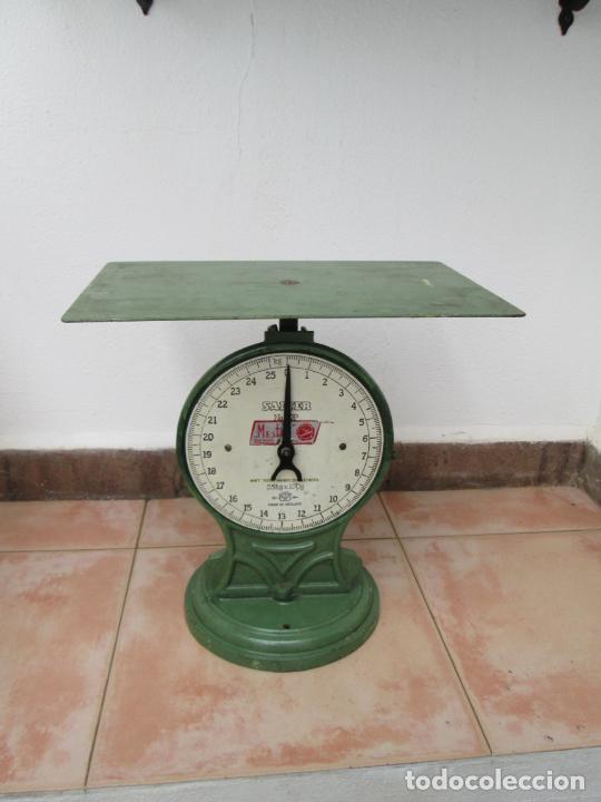 ANTIGUA BASCULA SALTER NO. 50P (Antigüedades - Técnicas - Medidas de Peso - Básculas Antiguas)