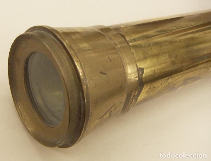 Antigüedades: Antiguo Catalejo de latón o bronce con trípode para mesa - Foto 4 - 236413510
