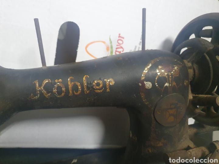 Antigüedades: Máquina de coser KOBLER - Foto 2 - 236435410