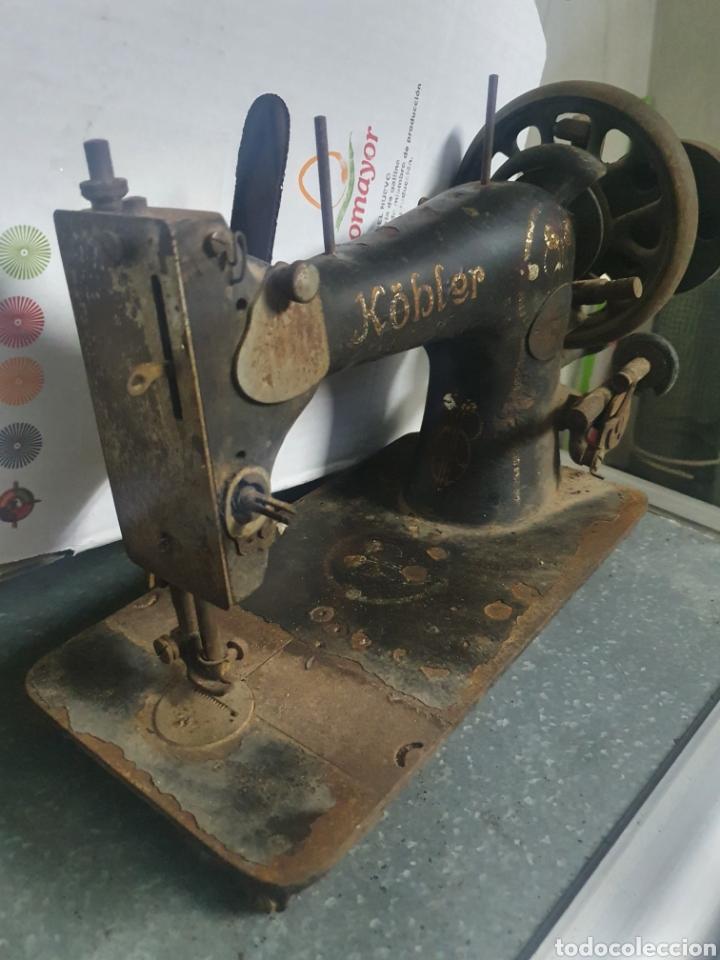 Antigüedades: Máquina de coser KOBLER - Foto 3 - 236435410