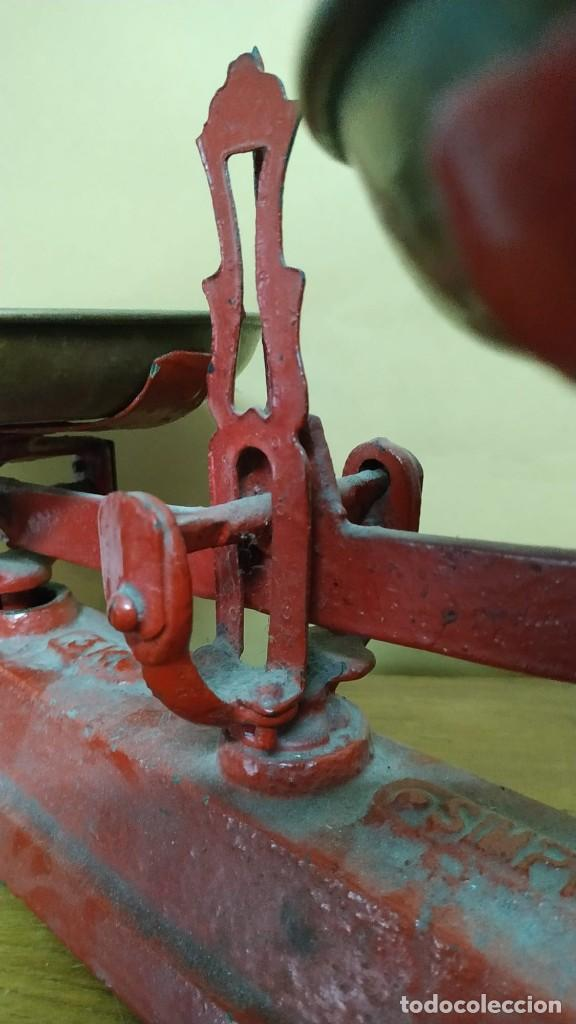 Antigüedades: Antigua Balanza de platos SIMPLEX - 3kg - Años 40 - Foto 2 - 236508920