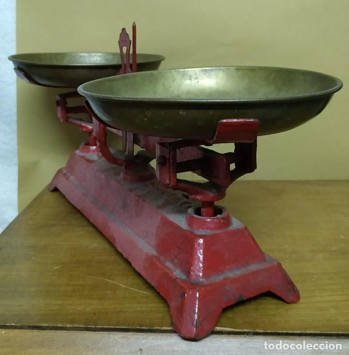 Antigüedades: Antigua Balanza de platos SIMPLEX - 3kg - Años 40 - Foto 3 - 236508920