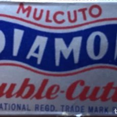 Antigüedades: CUCHILLA DE AFEITAR MULCUTO DIAMON DOUBLE CUTTER INTERNATIONAL HOJA. Lote 236592370