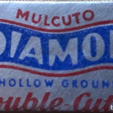 Antigüedades: CUCHILLA DE AFEITAR MULCUTO DIAMON HOLLOW GROUND DOUBLE CUTTER HOJA. Lote 236592700
