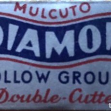 Antigüedades: CUCHILLA DE AFEITAR MULCUTO DIAMON HOLLOW GROUND DOUBLE CUTTER HOJA. Lote 236593110
