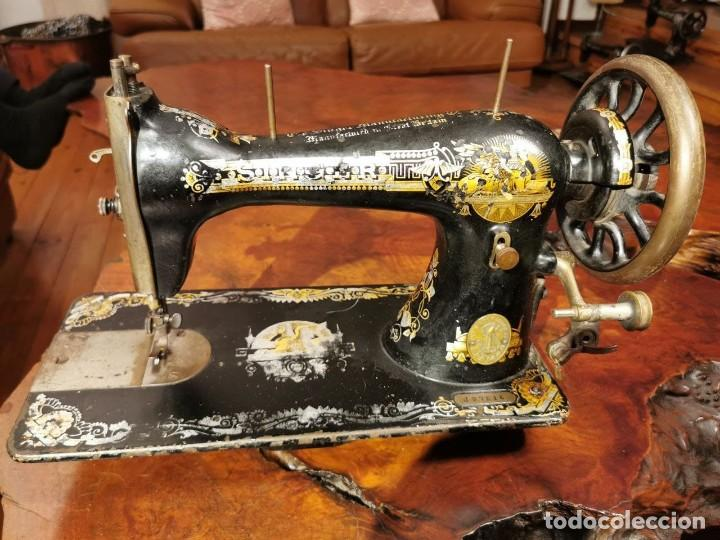 MAQUINA DE COSER SINGER MANUFACTURING BRITAIN (Antigüedades - Técnicas - Máquinas de Coser Antiguas - Singer)