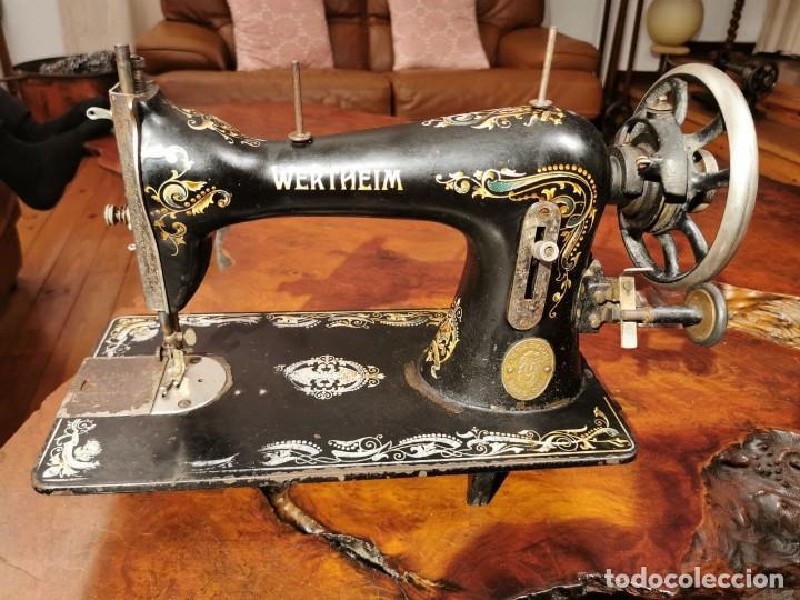 PRECIOSA CABEZA DE MAQUINA DE COSER WERTHEIM (Antigüedades - Técnicas - Máquinas de Coser Antiguas - Wertheim )