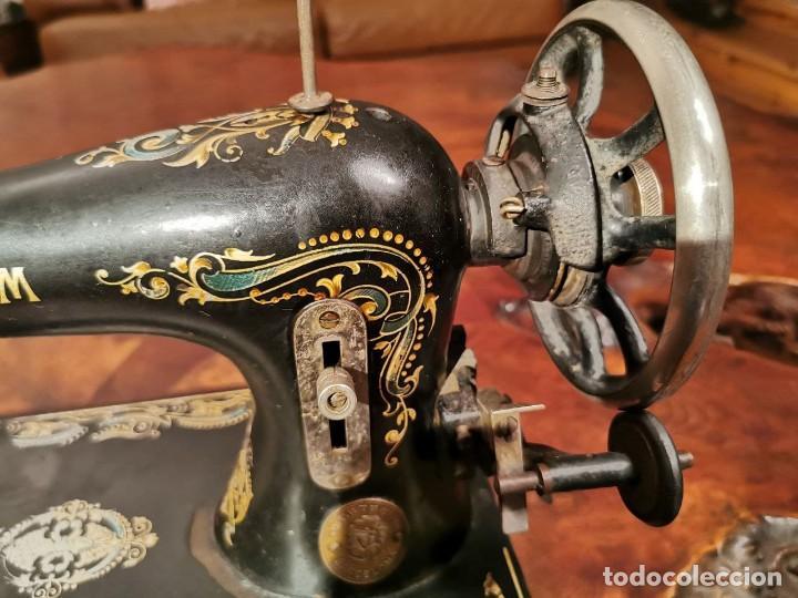 Antigüedades: PRECIOSA CABEZA DE MAQUINA DE COSER WERTHEIM - Foto 2 - 236787320