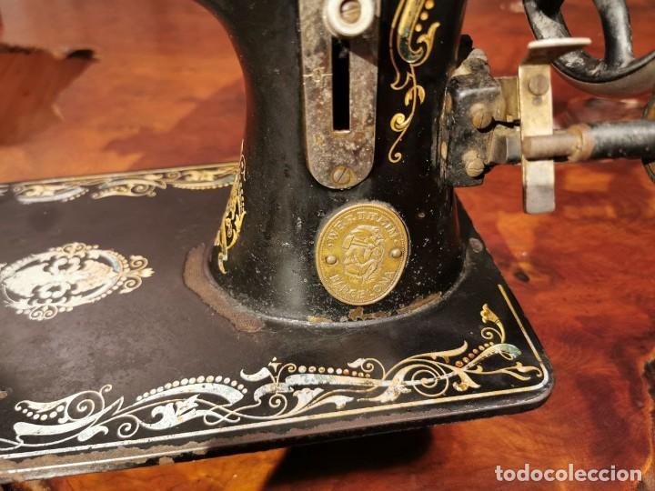 Antigüedades: PRECIOSA CABEZA DE MAQUINA DE COSER WERTHEIM - Foto 3 - 236787320
