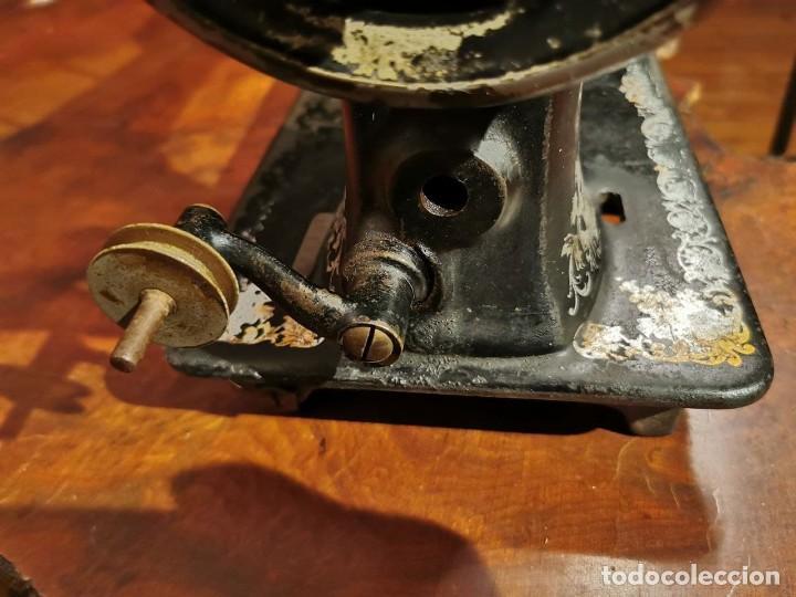 Antigüedades: MUY ANTIGUA CABEZA DE MAQUINA DE COSER WERTHEIM - Foto 6 - 236788935