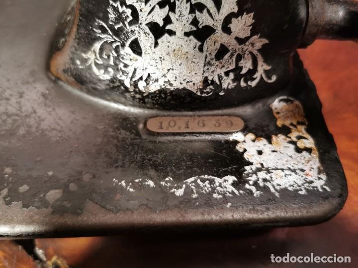 Antigüedades: MUY ANTIGUA CABEZA DE MAQUINA DE COSER WERTHEIM - Foto 14 - 236788935