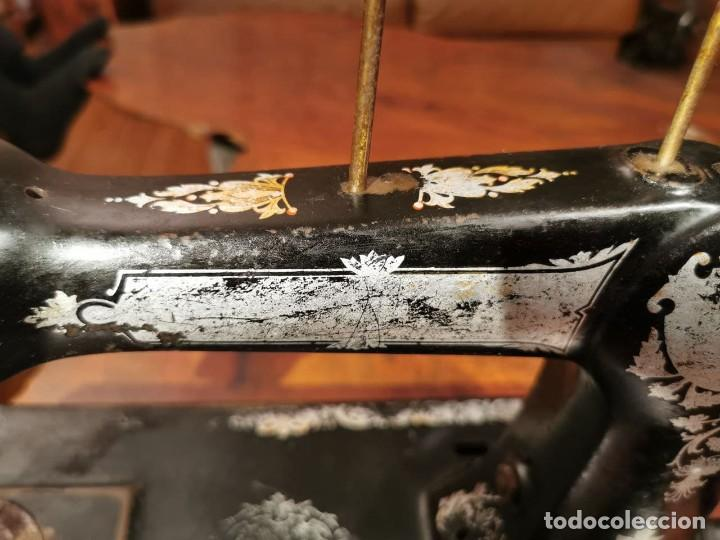 Antigüedades: MUY ANTIGUA CABEZA DE MAQUINA DE COSER WERTHEIM - Foto 15 - 236788935
