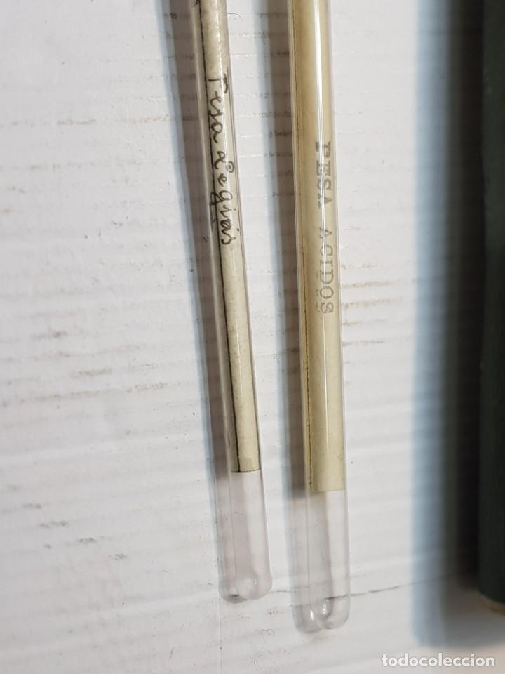 Antigüedades: Farmacia -Aerometros de Baumé- Pesa Acidos y Pesa Legias en blister original muy escaso - Foto 2 - 236807775