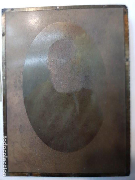Antigüedades: Tampon Metalico-Cliche Imprenta en bronce Fotografía antigua con su negativo - Foto 2 - 236815425