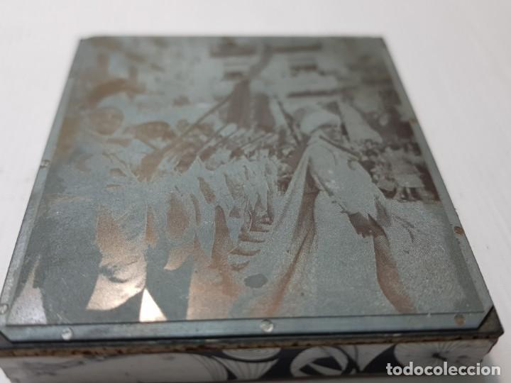 Antigüedades: Tampon Metalico-Cliche Imprenta metalico Fotografía fiestas Moros y Cristianos Alcoy - Foto 2 - 236818015